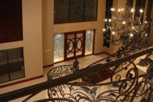 front door as seen from inside in luxury home