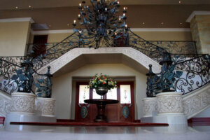 outrageous stairway in luxury upend home