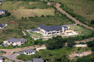 aerial view of luxury home