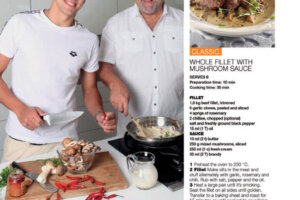 Chad le Closs cooking with dad You Magazine