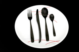 black cutlery and plate products
