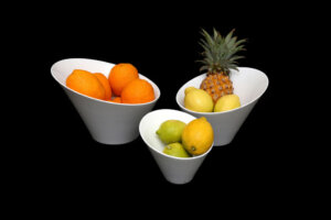 fruit bowls with fruit