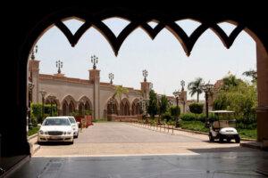 Vehicle entrance to Emirates palace in Abu Dhabi
