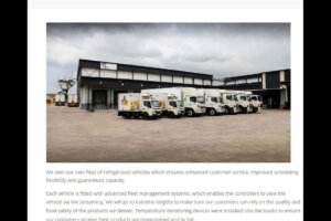 Delivery trucks of Etlin International