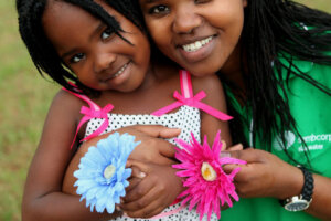 Ballito photographers - Family portrait of mom and young girl