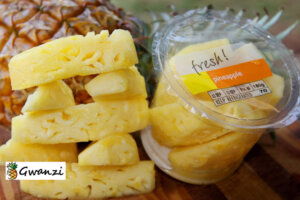 sliced ready packed pineapple food product