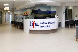 reception area at newly built modern hospital