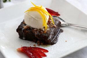chocolate and Ice cream dish