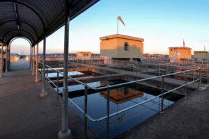 Industrial water filtration plant