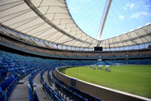 underroof seating at soccer stadium