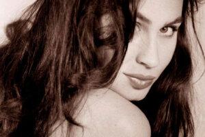 monochrome vintage look studio portrait of beautiful woman