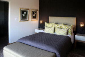 guest bedroom in modern luxury home