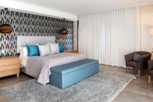 main bedroom in luxury home