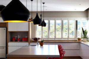 modern kitchen in luxury upmarket home