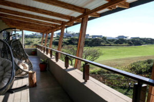 veranda looking out on golf course
