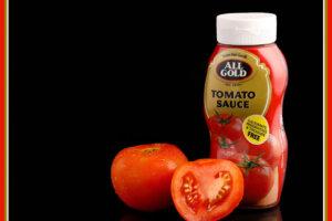 Bottle of tomato sauce