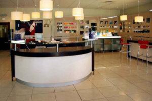 reception area of hair salon